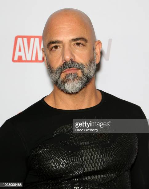 Adult film actor Adam Russo attends the 2019 GayVN Awards show at The Joint inside the Hard Rock Hotel Casino on January 21 2019 in Las Vegas Nevada