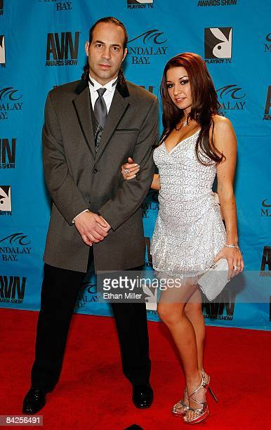 Adult film actor and director Eric John and adult film actress Ann Marie Rios arrive at the 26th annual Adult Video News Awards Show at the Mandalay...