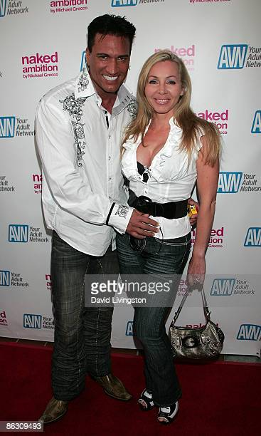Adult film actor and director Marco Banderas and wife adult film actress Lisa DeMarco attend the premiere of the documentary Naked Ambition An R...