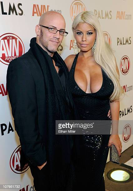 Adult film actor and radio personality Derrick Pierce and adult film actress Bridgette B. Arrive at the 28th annual Adult Video News Awards Show at...