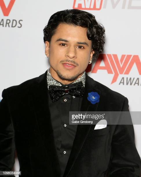Adult film actor Armond Rizzo attends the 2019 GayVN Awards show at The Joint inside the Hard Rock Hotel Casino on January 21 2019 in Las Vegas Nevada