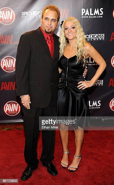 Adult Film Actor Barrett Blade And Adult Film Actress Briana Blair Arrive At The 27th Annual