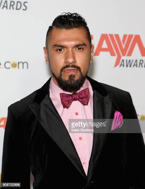 Adult film actor Boomer Banks attends the 2018 GayVN Awards show at The Joint inside the Hard Rock Hotel Casino on January 21 2018 in Las Vegas Nevada