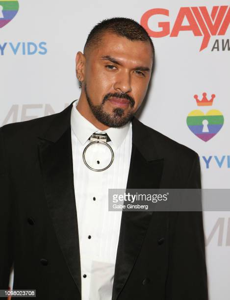 Adult film actor Boomer Banks attends the 2019 GayVN Awards show at The Joint inside the Hard Rock Hotel Casino on January 21 2019 in Las Vegas Nevada