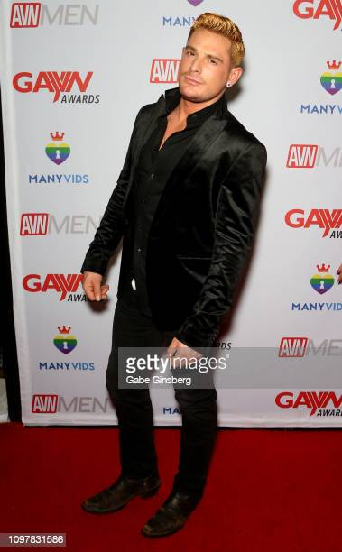 Adult film actor Brent Corrigan attends the 2019 GayVN Awards show at The Joint inside the Hard Rock Hotel Casino on January 21 2019 in Las Vegas...