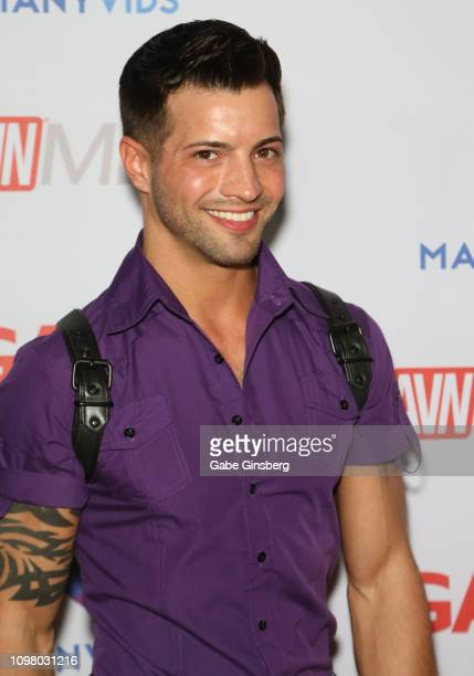 Adult film actor Casey Everett attends the 2019 GayVN Awards show at The Joint inside the Hard Rock Hotel Casino on January 21 2019 in Las Vegas...