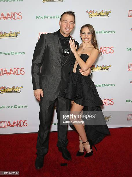 Adult film actor Chad White and adult film actress Kimmy Granger attend the 2017 Adult Video News Awards at the Hard Rock Hotel & Casino on January...