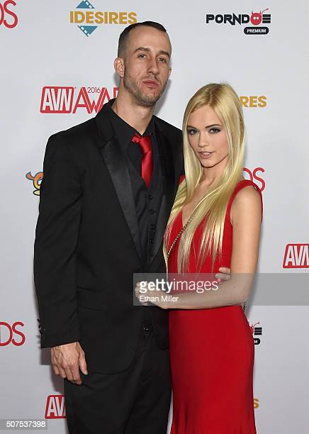 Adult Film Actor Chris Strokes And Adult Film Actress Alex Grey Attend The 2016 Adult Video