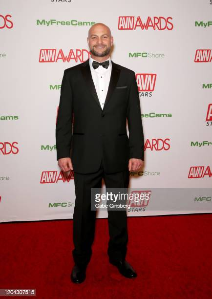 Adult film actor Cyrus King attends the 2020 Adult Video News Awards at The Joint inside the Hard Rock Hotel Casino on January 25 2020 in Las Vegas...