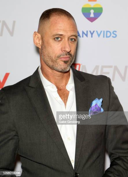 Adult film actor D Arclyte attends the 2019 GayVN Awards show at The Joint inside the Hard Rock Hotel Casino on January 21 2019 in Las Vegas Nevada