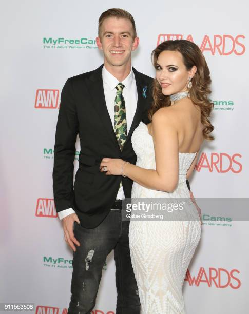 Adult film actor Danny D and adult film actress/producer Sophia Knight attend the 2018 Adult Video News Awards at the Hard Rock Hotel Casino on...