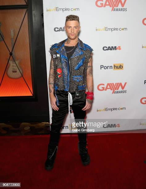 Adult film actor Danny Gunn attends the 2018 GayVN Awards show at The Joint inside the Hard Rock Hotel Casino on January 21 2018 in Las Vegas Nevada