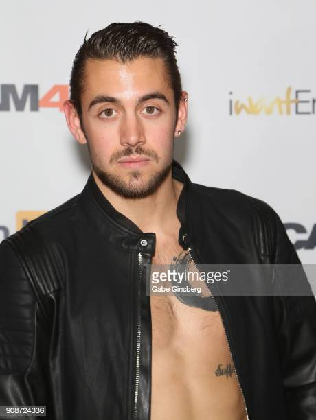 Adult film actor Dante Colle attends the 2018 GayVN Awards show at The Joint inside the Hard Rock Hotel Casino on January 21 2018 in Las Vegas Nevada