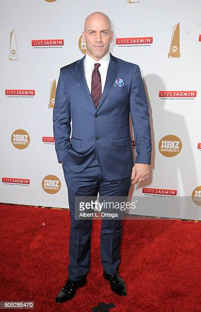 Adult film actor Derrick Pierce arrives for the 2016 XBIZ Awards held at JW Marriott Los Angeles at LA LIVE on January 15 2016 in Los Angeles...