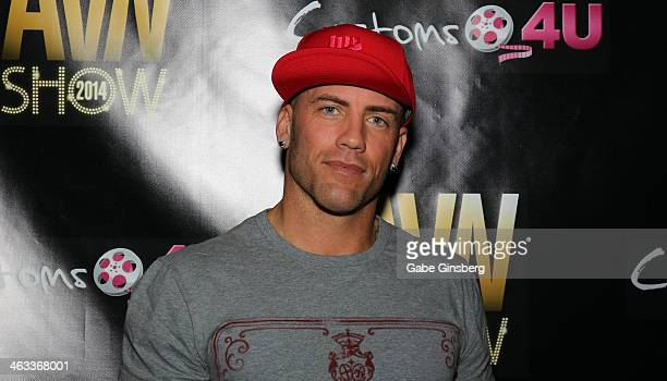 Adult film actor Derrick Pierce attends the 2014 AVN Adult Entertainment Expo at the Hard Rock Hotel Casino on January 17 2014 in Las Vegas Nevada
