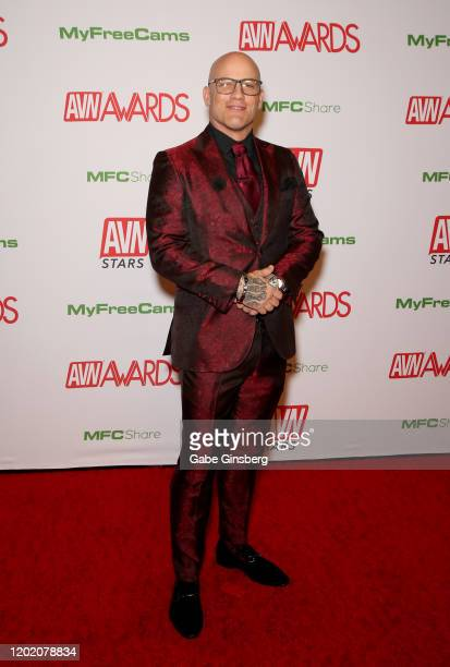 Adult film actor Derrick Pierce attends the 2020 Adult Video News Awards at The Joint inside the Hard Rock Hotel Casino on January 25 2020 in Las...