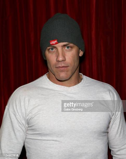 Adult film actor Derrick Pierce poses in the press room at the 2019 AVN Adult Entertainment Expo at the Hard Rock Hotel Casino on January 25 2019 in...