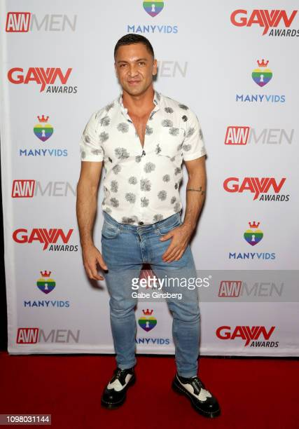 Adult film actor Dominic Pacifico attends the 2019 GayVN Awards show at The Joint inside the Hard Rock Hotel Casino on January 21 2019 in Las Vegas...