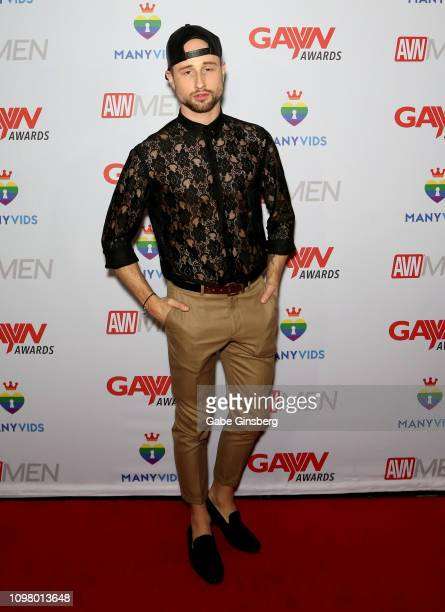 Adult film actor Drew Dixon attends the 2019 GayVN Awards show at The Joint inside the Hard Rock Hotel Casino on January 21 2019 in Las Vegas Nevada
