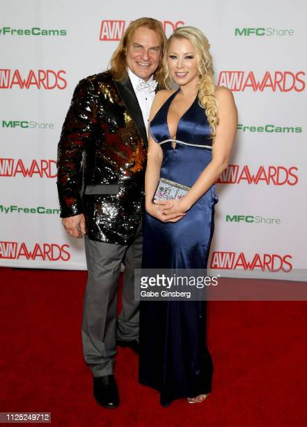 Adult film actor Evan Stone and adult film actress Katie Morgan attend the 2019 Adult Video News Awards at The Joint inside the Hard Rock Hotel &...