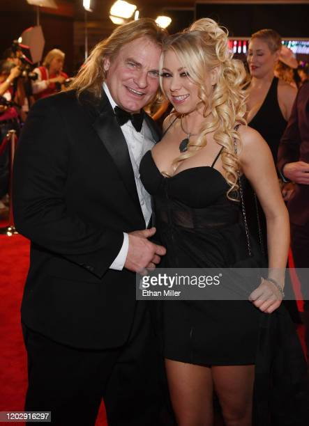 Adult film actor Evan Stone and adult film actress Katie Morgan attend the 2020 Adult Video News Awards at The Joint inside the Hard Rock Hotel...