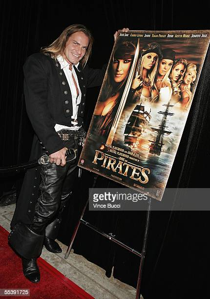 Adult film actor Evan Stone attends the Digital Playground Adam and Eve production of the XXX rated film 'Pirates' on September 12 2005 at the...