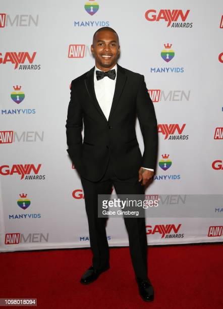 Adult film actor Jacen Zhu attends the 2019 GayVN Awards show at The Joint inside the Hard Rock Hotel Casino on January 21 2019 in Las Vegas Nevada