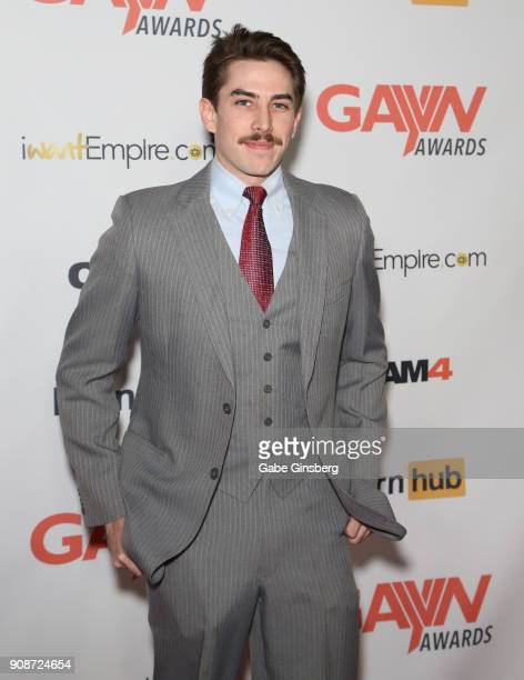 Adult film actor Jack Hunter attends the 2018 GayVN Awards show at The Joint inside the Hard Rock Hotel Casino on January 21 2018 in Las Vegas Nevada