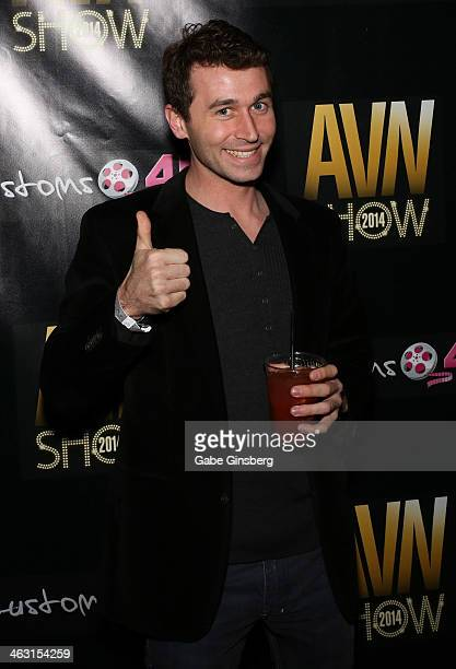 Adult film actor James Deen attends the 2014 AVN Adult Entertainment Expo at the Hard Rock Hotel Casino on January 16 2014 in Las Vegas Nevada