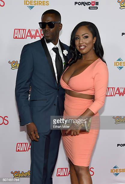 Adult Film Actor Jason Brown And Adult Film Actress Layton Benton Attend The 2016 Adult Video