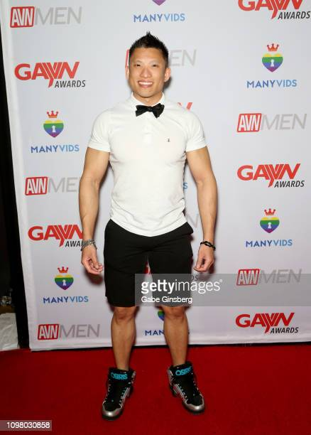 Adult film actor Jessie Lee attends the 2019 GayVN Awards show at The Joint inside the Hard Rock Hotel Casino on January 21 2019 in Las Vegas Nevada