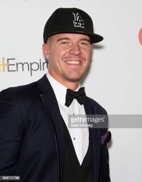 Adult film actor JJ Knight attends the 2018 GayVN Awards show at The Joint inside the Hard Rock Hotel Casino on January 21 2018 in Las Vegas Nevada