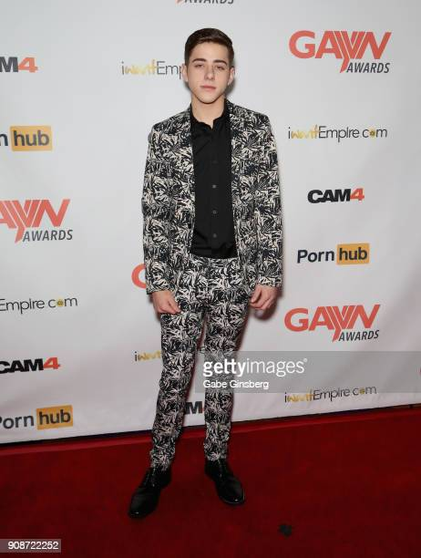 Adult film actor Joey Mills attends the 2018 GayVN Awards show at The Joint inside the Hard Rock Hotel Casino on January 21 2018 in Las Vegas Nevada