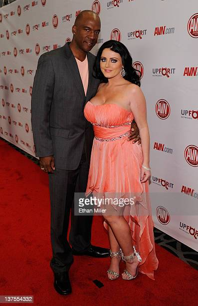 Adult film actor Lee Bang and adult film actress Sophie Dee arrive at the 29th annual Adult Video News Awards Show at the Hard Rock Hotel Casino...