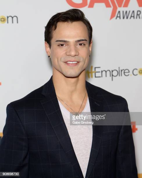 Adult film actor Levi Karter attends the 2018 GayVN Awards show at The Joint inside the Hard Rock Hotel Casino on January 21 2018 in Las Vegas Nevada