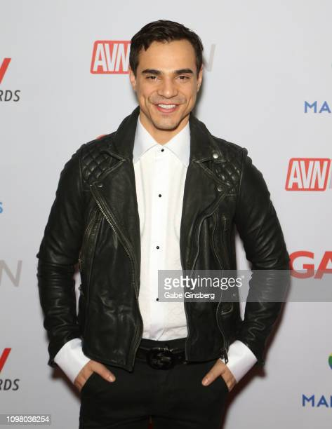 Adult film actor Levi Karter attends the 2019 GayVN Awards show at The Joint inside the Hard Rock Hotel Casino on January 21 2019 in Las Vegas Nevada