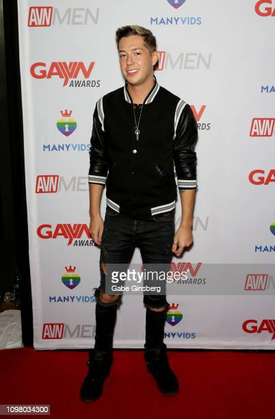 Adult film actor Luke Allen attends the 2019 GayVN Awards show at The Joint inside the Hard Rock Hotel Casino on January 21 2019 in Las Vegas Nevada