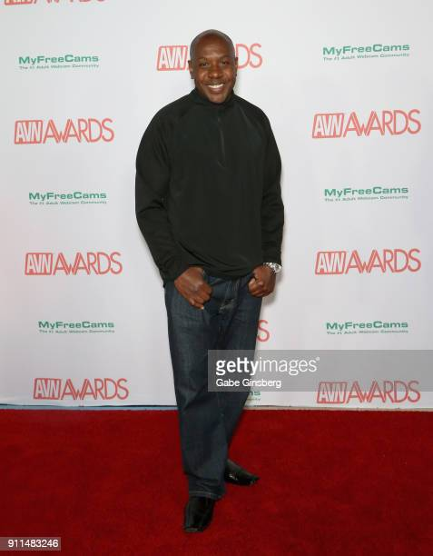 Adult film actor Mandingo attends the 2018 Adult Video News Awards at the Hard Rock Hotel Casino on January 27 2018 in Las Vegas Nevada