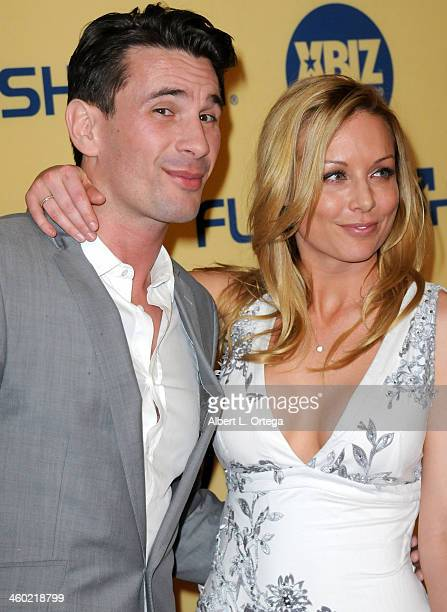 Adult film actor Manuel Ferrara and Adult film actress Kayden Kross arrive for the 2013 XBIZ Awards held at the Hyatt Regency Century Plaza on...