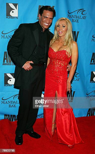 Adult Film Actor Marco Banderas And His Wife Adult Film Actress Lisa Demarco Arrive At The