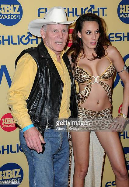 Adult film actor Max Hardcore and adult film actress Layla Rivera arrive for the 2013 XBIZ Awards held at the Hyatt Regency Century Plaza on January...