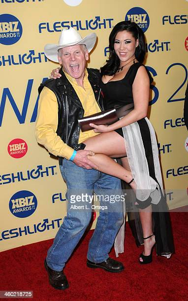 Adult film actor Max Hardcore and Adult film actress London Keyes arrive for the 2013 XBIZ Awards held at the Hyatt Regency Century Plaza on January...