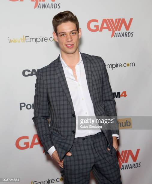 Adult film actor Michael Del Ray attends the 2018 GayVN Awards show at The Joint inside the Hard Rock Hotel Casino on January 21 2018 in Las Vegas...