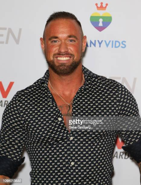 Adult film actor Michael Roman attends the 2019 GayVN Awards show at The Joint inside the Hard Rock Hotel Casino on January 21 2019 in Las Vegas...