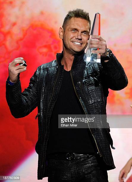 Adult film actor Nacho Vidal accepts an award during the 29th annual Adult Video News Awards Show at The Joint inside the Hard Rock Hotel Casino...