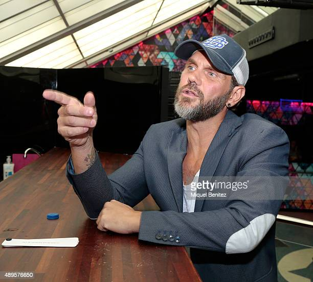 Adult film actor Nacho Vidal attends the Erotic Fair Barcelona 2015 presentation on September 22, 2015 in Barcelona, Spain.