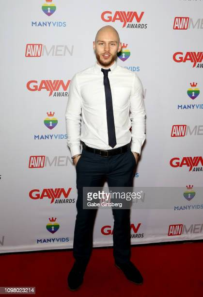 Adult film actor Orson Deane attends the 2019 GayVN Awards show at The Joint inside the Hard Rock Hotel Casino on January 21 2019 in Las Vegas Nevada
