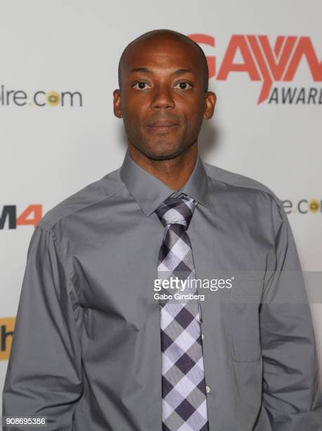 Adult film actor Osiris Blade attends the 2018 GayVN Awards show at The Joint inside the Hard Rock Hotel Casino on January 21 2018 in Las Vegas Nevada