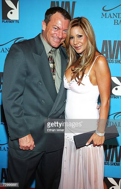 Adult film actor Randy Spears and his wife Demi Delia arrive at the 24th annual Adult Video News Awards Show at the Mandalay Bay Events Center...