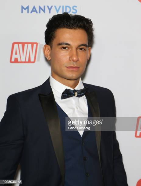 Adult film actor Ricky Roman attends the 2019 GayVN Awards show at The Joint inside the Hard Rock Hotel Casino on January 21 2019 in Las Vegas Nevada
